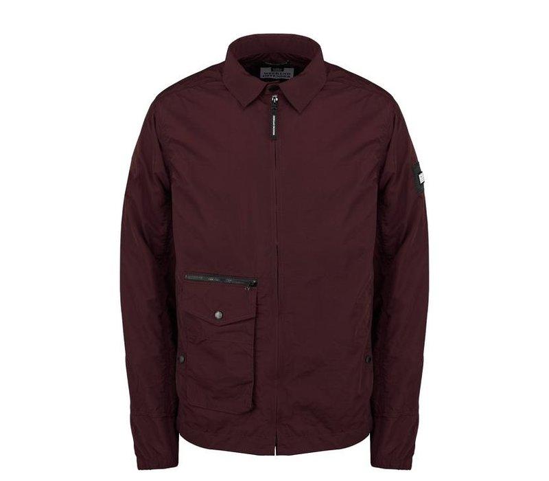Weekend Offender Vinnie overshirt jacket Burgundy Red