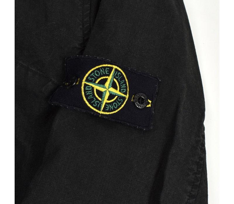 Stone Island black spalmatura coated cotton canvas blazer jacket XL