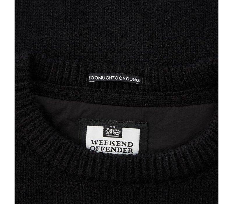 Weekend Offender Cardona crew neck knit jumper Black