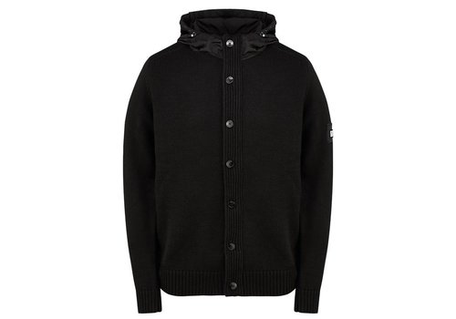 Weekend Offender Weekend Offender Toledo hooded full zip knit jumper Black