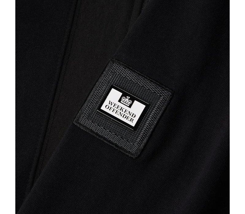 Weekend Offender Bracco hooded zip up jacket Black