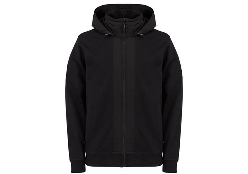 Weekend Offender Weekend Offender Bracco hooded zip up jacket Black