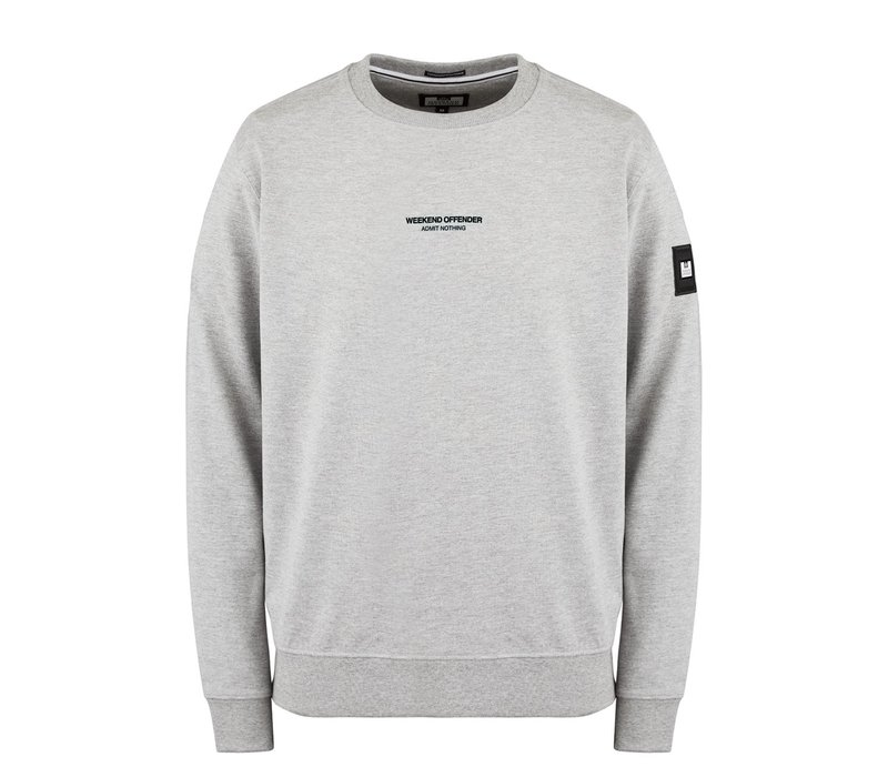 Weekend Offender WO Sweat crew neck sweatshirt Grey Marl