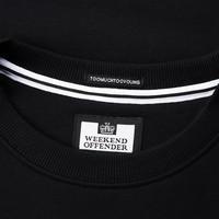 Weekend Offender WO Sweat crew neck sweatshirt Black