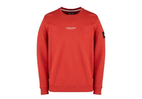 Weekend Offender Weekend Offender WO Sweat crew neck sweatshirt Rust Red