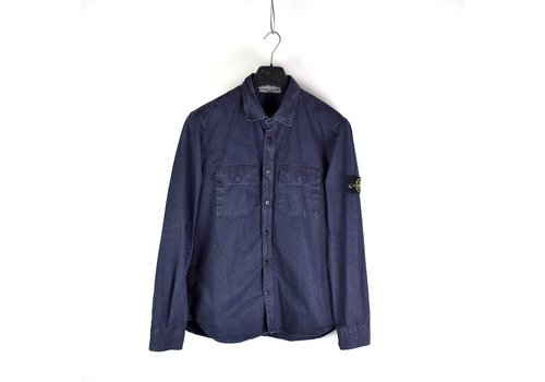 Stone Island Stone Island navy tinto old cotton long sleeve shirt L