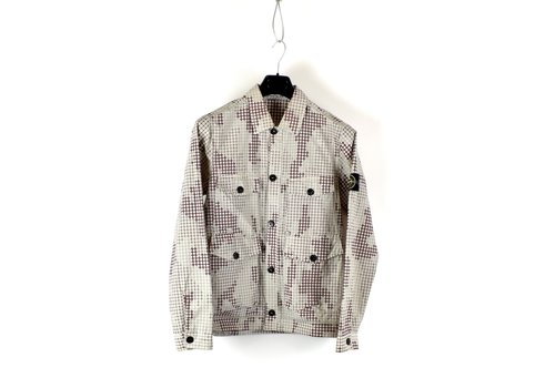 Stone Island Stone Island full compact rip stop SI check grid camo overshirt jacket S