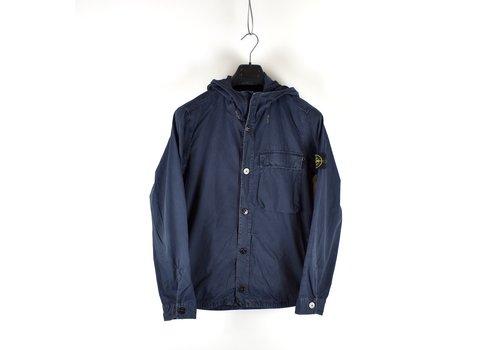 Stone Island Stone Island navy t.co + old cotton hooded overshirt jacket M