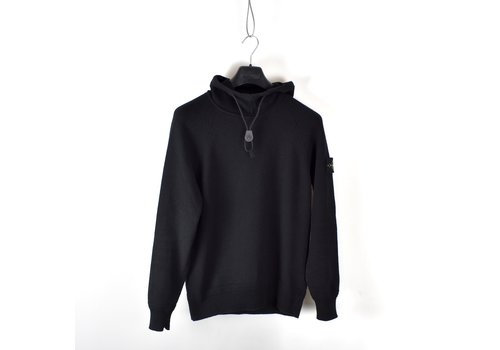 Stone Island Stone Island black hooded wool knit S