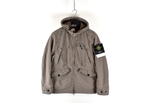 Stone Island Stone Island brown david light-tc with micropile hooded jacket S