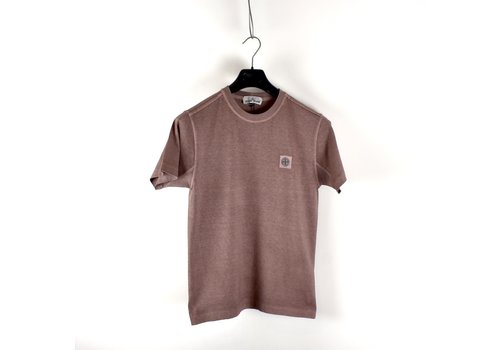 Stone Island Stone Island pink fissato dye cotton patch program short sleeve t-shirt S