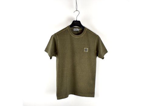 Stone Island Stone Island green fissato dye cotton patch program short sleeve t-shirt S