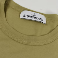 Stone Island green star embroidery cotton short sleeve t-shirt S