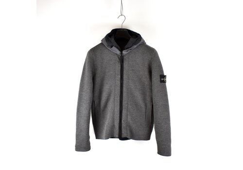 Stone Island Stone Island grey reversible quilted lined presidents knit M