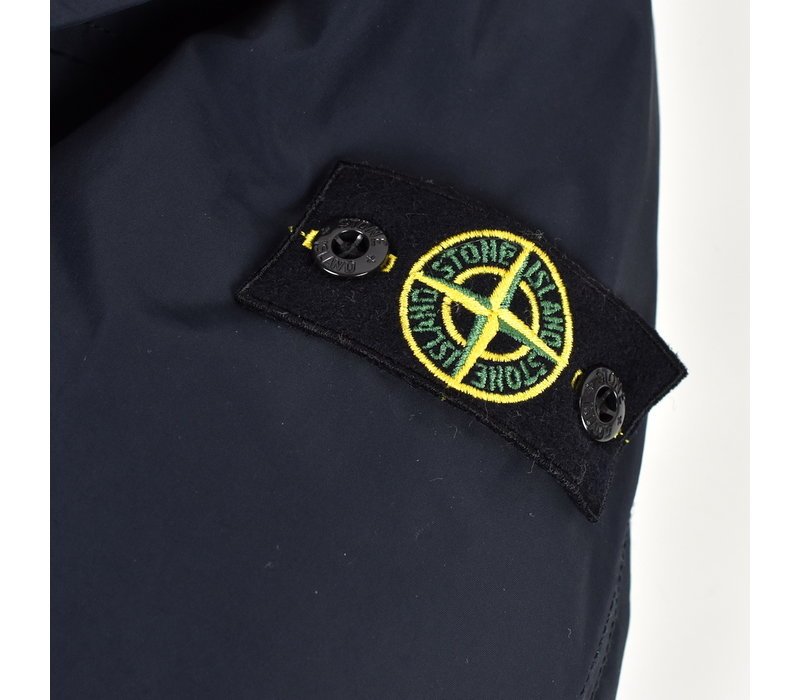Stone Island junior navy micro reps hooded parka age 12