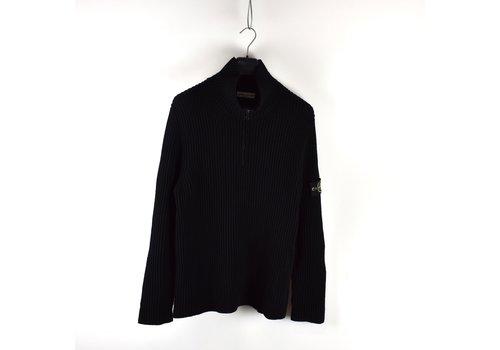 Stone Island Stone Island black wool quarter zip knit XXXL