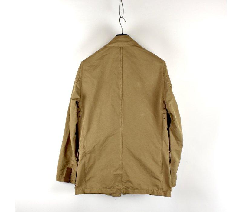 Stone Island brown david microfiber chest badge blazer jacket XL