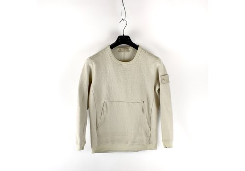 Stone Island Stone Island beige ghost piece brushed jersey cotton crew neck sweat M