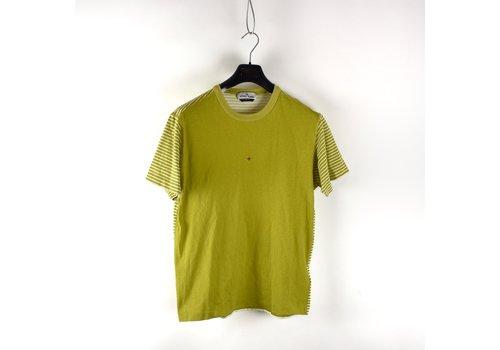 Stone Island Stone Island Marina yellow pigment printed striped t-shirt L