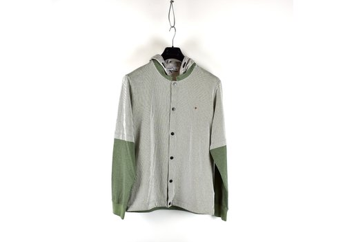 Stone Island Stone Island Marina green hooded long sleeve sweatshirt