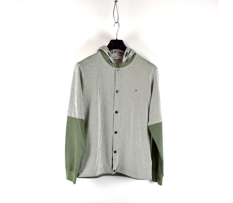 Stone Island Marina green hooded long sleeve sweatshirt