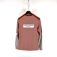 Stone Island Marina red long sleeve sweatshirt