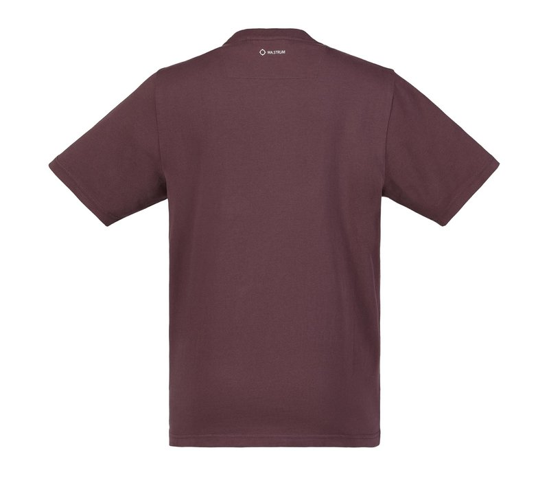 MA.STRUM SS icon tee Cordovan Red