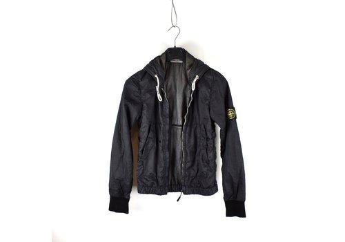 Stone Island Stone Island navy ultra lightweight nylon hooded jacket S