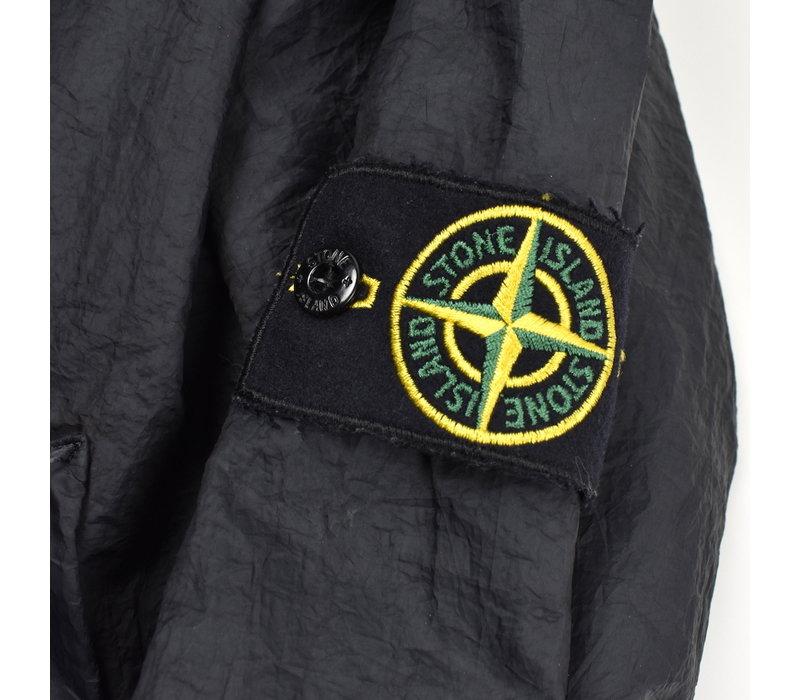 Stone Island navy ultra lightweight nylon hooded jacket S