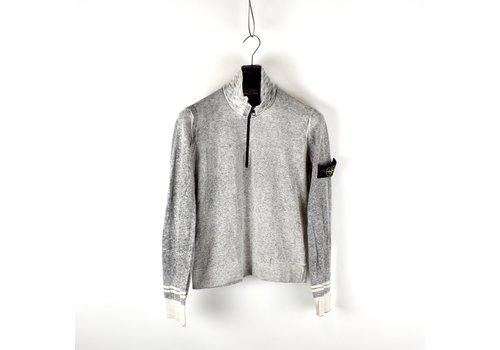Stone Island Stone Island grey melange zip neck cotton knit M