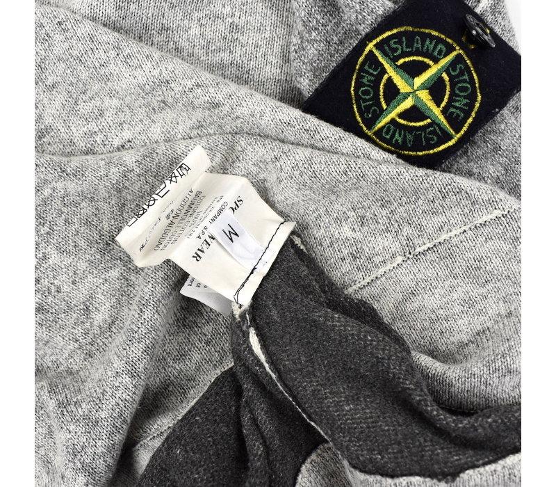 Stone Island grey melange zip neck cotton knit M
