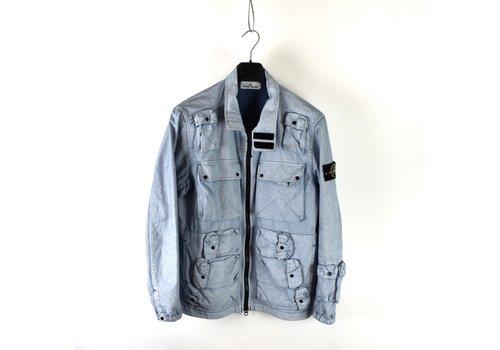 Stone Island Stone Island blue multipocket canvas placcato field jacket L