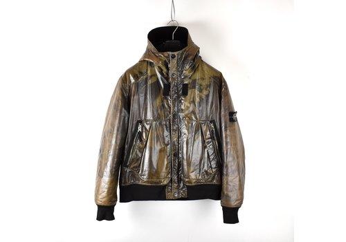 Stone Island Stone Island brown waxed ice 2 bomber jacket XXL