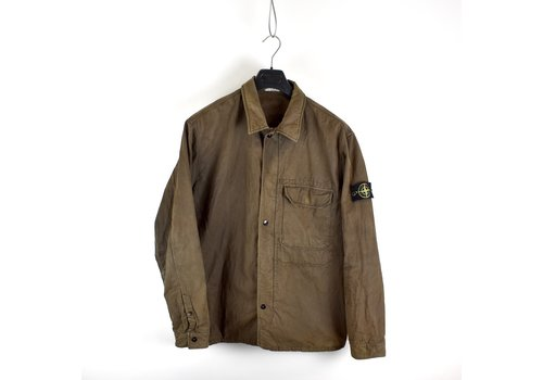 Stone Island Stone Island brown lined cotton overshirt jacket XXL