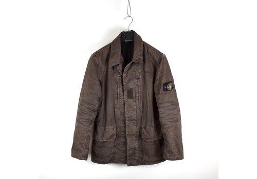 Stone Island Stone Island brown linoflax lined blazer jacket L
