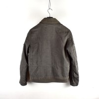Stone Island grey linoflax dutch rope lined jacket L