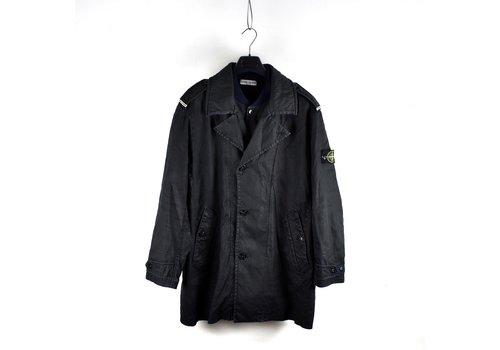 Stone Island Stone Island black linoflax lined trench coat XXL
