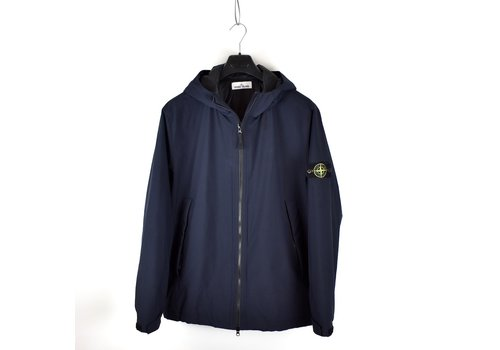 Stone Island Stone Island navy soft shell-r with primaloft hooded jacket XXXL