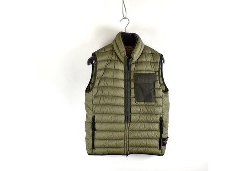 Stone Island Stone Island green packable garment dyed micro yarn down gilet L