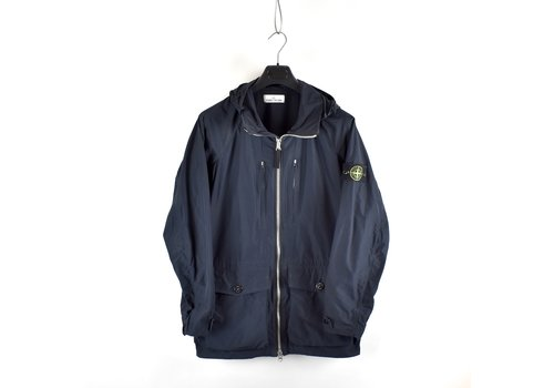 Stone Island Stone Island navy micro reps hooded parka L