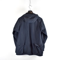Stone Island navy micro reps hooded parka L