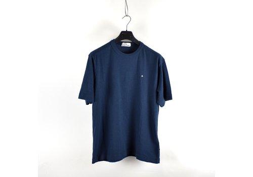 Stone Island Stone Island Marina navy slub cotton jersey short sleeve t-shirt L