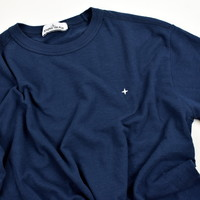 Stone Island Marina navy slub cotton jersey short sleeve t-shirt L