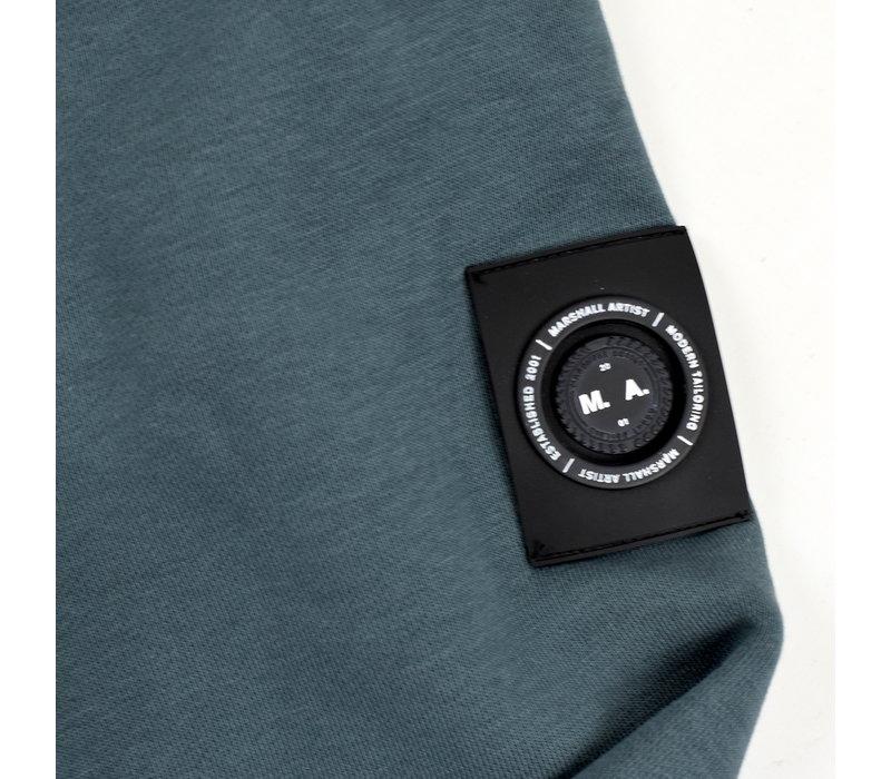 Marshall Artist siren half zip sweatshirt Quarry Blue