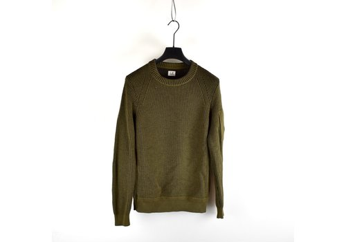 C.P. Company C.P. Company olive green wool lens crew knit size 50