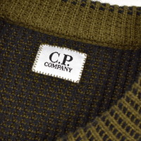 C.P. Company olive green wool lens crew knit size 50