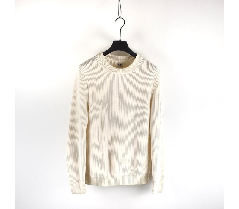 C.P. Company white wool lens crew knit size 50