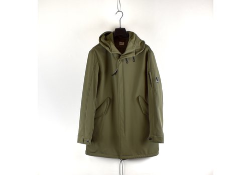 C.P. Company C.P. Company olive green cp shell lens detail fishtail parka size 52