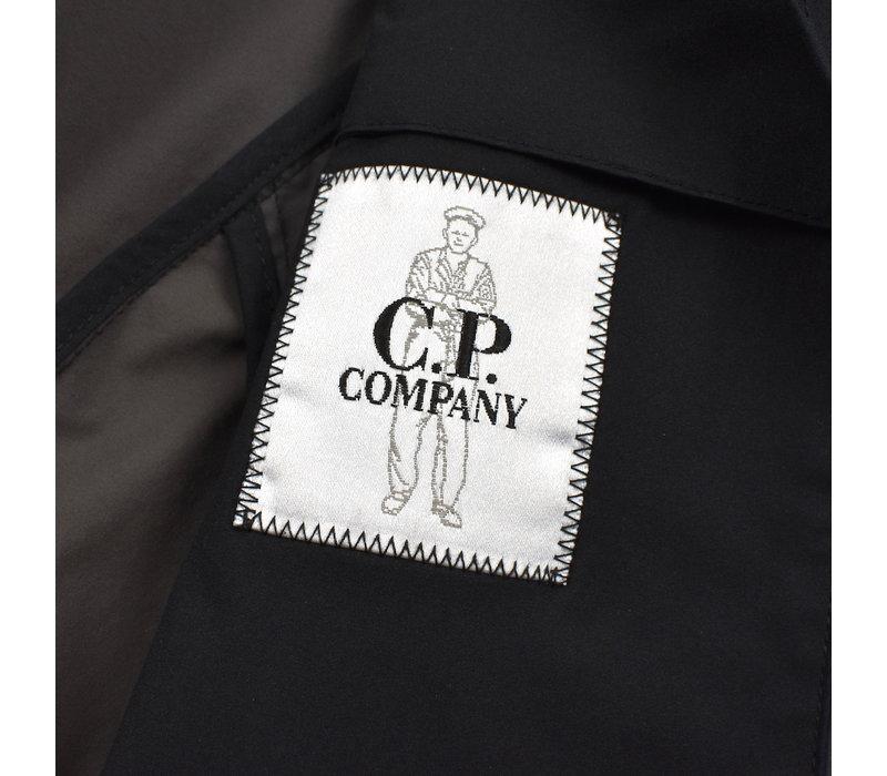C.P. Company black pro-tek lens detail fishtail parka size 50