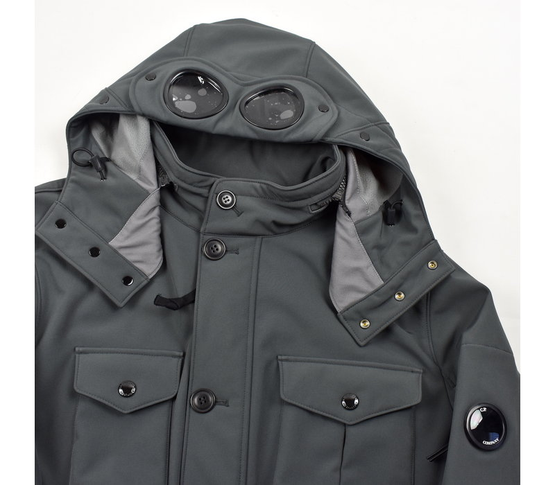 C.P. Company grey cp shell goggle hood mille miglia field jacket in size 56